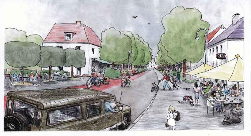 Einkaufs- und Flaniermeile in Lohhof: Die Bezirksstraße der Zukunft